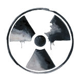 Nuclear radiation symbol painted Royalty Free Stock Photography