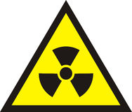 Nuclear Radiation Symbol - Radioactive sign in yellow colour iso Stock Photo