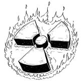 Nuclear Radiation Symbol Vector Hand Drawing Doodle Royalty Free Stock Images