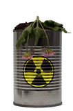 Nuclear Radioactive danger. A plant dies from radiation poisoning Royalty Free Stock Photos