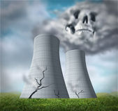Nuclear reactor meltdown stock illustration