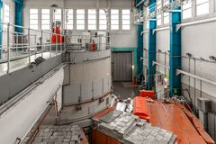 Nuclear reactor in a science institute Royalty Free Stock Images