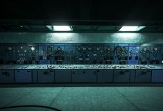 Nuclear reactor in a science institute Stock Photo