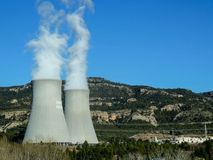 Nuclear reactor in Spain stock photos