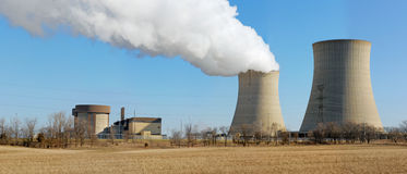 Nuclear reactors Royalty Free Stock Photo