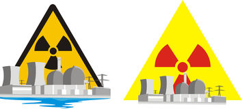 Nuclear risk - nuclear energy Stock Photos