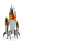 Nuclear rockets Stock Images