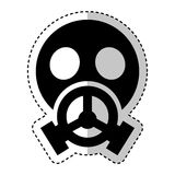 Nuclear safety mask icon Stock Image