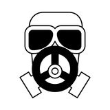 Nuclear safety mask icon Royalty Free Stock Photo