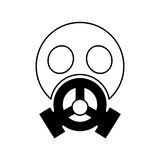Nuclear safety mask icon Royalty Free Stock Photography