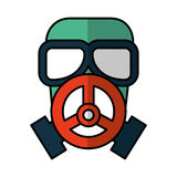 Nuclear safety mask icon Stock Photos