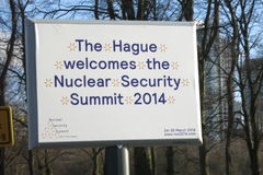 2014 Nuclear Security Summit sign Stock Photography