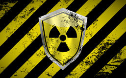 Nuclear shield  background with grunge elements. Illustration Stock Image