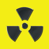 Nuclear Sign. A nuclear logo or sign Stock Image