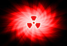 Nuclear sign. On abstract background royalty free illustration