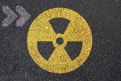 Nuclear sign Stock Image