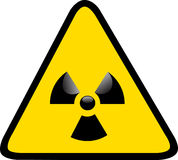 Nuclear Sign. Nuclear and Radioactive sign for danger Stock Images