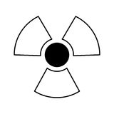 Nuclear sign isolated icon Stock Photo
