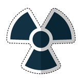 Nuclear sign isolated icon Royalty Free Stock Photography