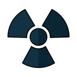 Nuclear sign isolated icon Royalty Free Stock Photo
