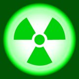 Nuclear sign, peaceful atom. Peaceful atom, nuclear  symbol, caution  radioactivity, sign  hazard, background Royalty Free Stock Photos