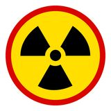 Nuclear Sign on white Stock Photos