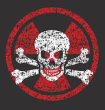 Nuclear skull symbol Royalty Free Stock Photos