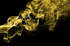 Nuclear smoke. On a black background Stock Image
