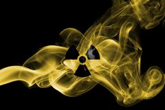 Nuclear smoke. Isolated on a black background Stock Images