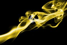Nuclear smoke. Isolated on a black background Royalty Free Stock Photos