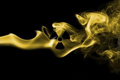 Nuclear smoke. Isolated on a black background Stock Image