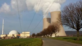 Nuclear station against the sky stock video
