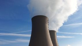 Nuclear station against the sky stock video footage