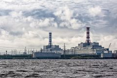 Nuclear station in Russia, Smolensk. stock photos