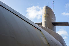Nuclear submarine. Close up of an old nuclear submarine royalty free stock photography