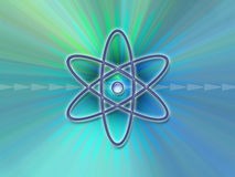 Nuclear Symbol Background Royalty Free Stock Images