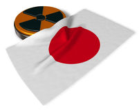Nuclear symbol and flag of japan Royalty Free Stock Image
