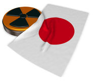 Nuclear symbol and flag of japan Stock Photography