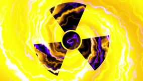 Nuclear symbol flashing icon loop stock illustration