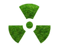 Nuclear symbol from a green grass  Royalty Free Stock Photography