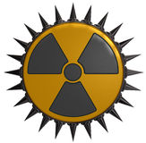 Nuclear symbol with prickles Royalty Free Stock Images