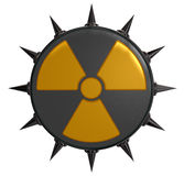 Nuclear symbol with prickles Stock Photo