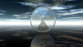 Nuclear symbol under cloudy sky Stock Photography