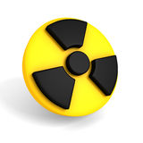 Nuclear symbol on white background Royalty Free Stock Photo