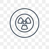Nuclear vector icon isolated on transparent background, linear N stock illustration