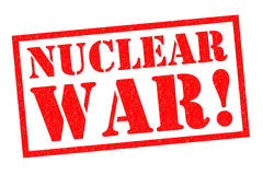 NUCLEAR WAR!. Red Rubber Stamp over a white background Stock Photography