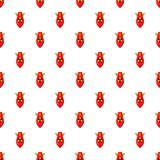 Nuclear warhead pattern, cartoon style. Nuclear warhead pattern. Cartoon illustration of nuclear warhead vector pattern for web Stock Images