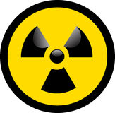 Nuclear Warning. Warning Sign for Nuclear and Radioactive Danger Royalty Free Stock Photography