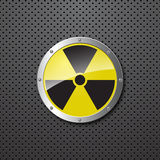 Nuclear warning background Royalty Free Stock Image