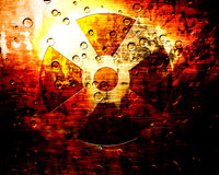 Nuclear warning sign Royalty Free Stock Photography